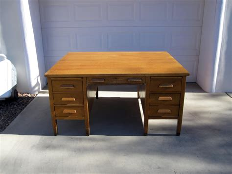 Arts And Crafts Style Desk by Antique And Crafts Mission Style Oak Partners Desk