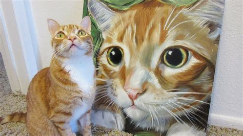 paint like cat speed painting marmalade the cat