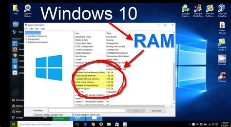 where to ram windows 10 how to check ram memory system specs free