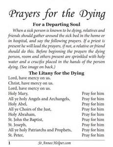 printable prayers for the dying booklet