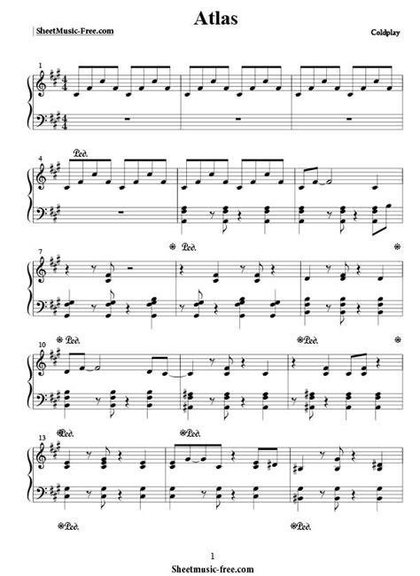 coldplay music atlas sheet music coldplay sheet music free