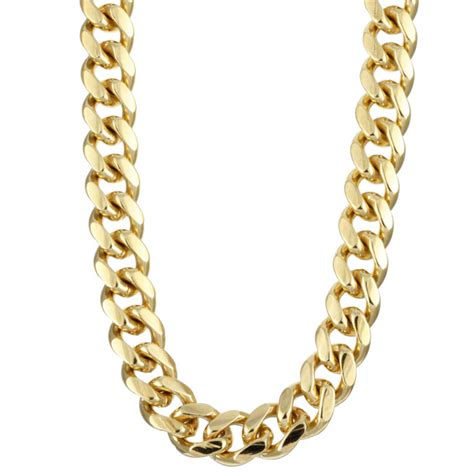 Platifina 22 inch 7mm Classic Cuban Link Chain Sterling Silver Rhodium Plated 22 inch Classic