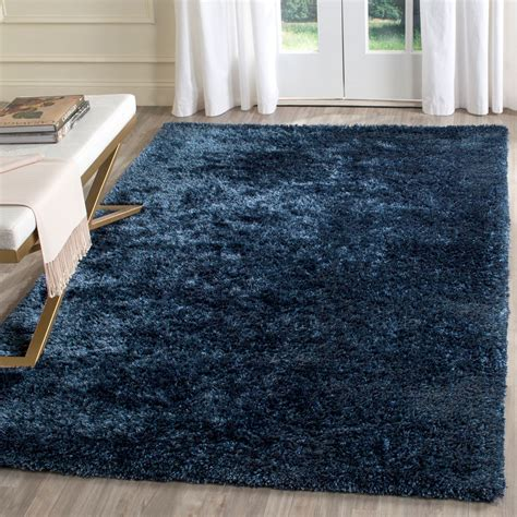 toronto rugs plush navy blue shag toronto collection safavieh