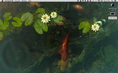 3d pond wallpaper koi pond 3d a tranquil live desktop for mac mactrast
