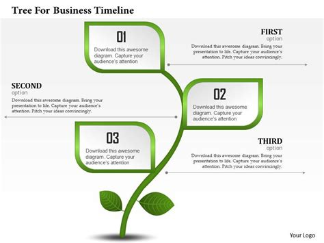 tree template for powerpoint 0314 business ppt diagram tree for business timeline
