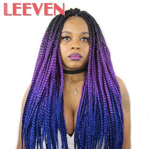 ombre synthetic braiding hair aliexpress com buy leeven jumbo braids ombre kanekalon