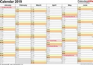 United Kingdom Uk Calendario 2018 Calendar 2019 Uk 16 Free Printable Pdf Templates