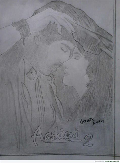 Aashiqui 2 Sketches by Pencil Sketch Of Aashiqui 2 By Karthik Smarty