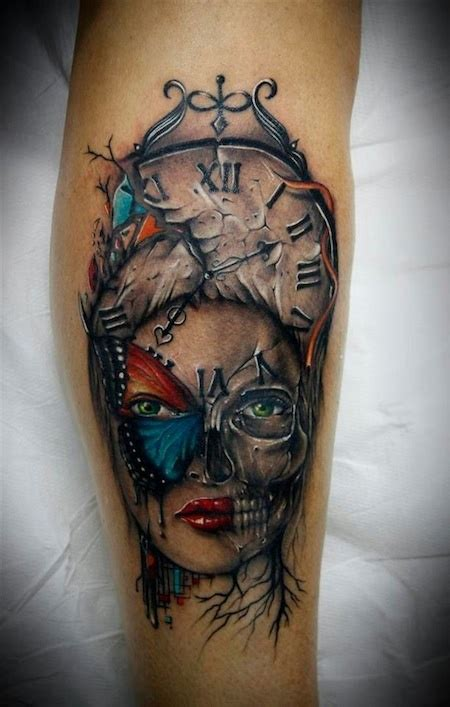 voodoo tattoo gallery 108 best ink clocks compass and hourglass images on