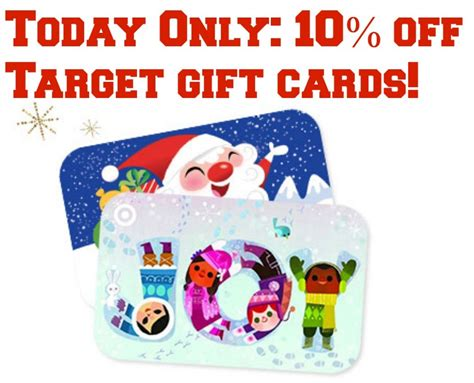 Target Discount Gift Card - discounted target gift cards get 10 off today only