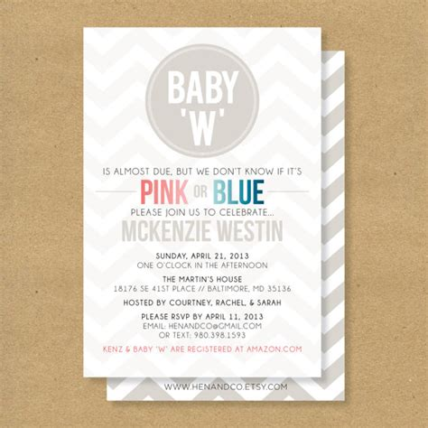 neutral baby shower wording for invitations baby shower invitation gender neutral boy or by henandco