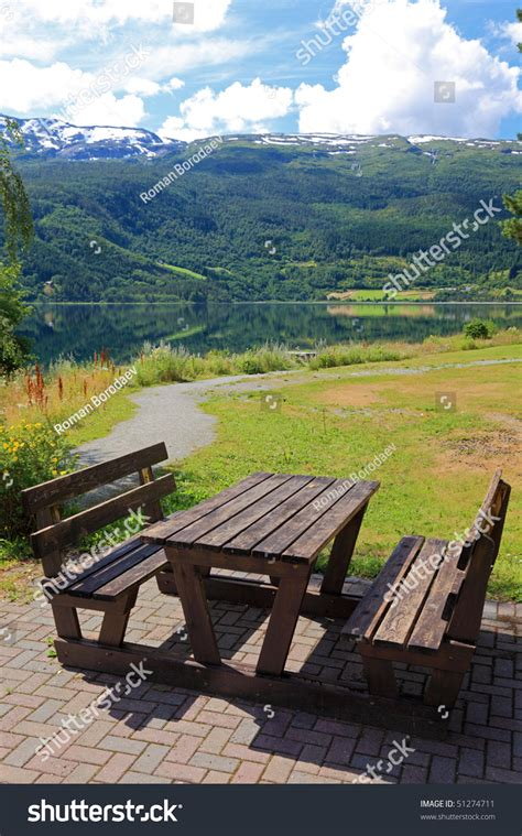 parks with picnic tables near me picnic table benches near lake stock photo 51274711