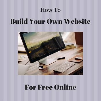 build your online build your own website online for free