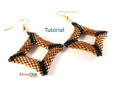 peyote stitch patterns seed bead earring patterns beading