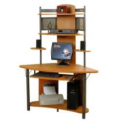 Buy Corner Computer Desk Buy Low Price Comfortable Arch Corner Computer Workstation Pewter And Teak 50500 B003zt68bi