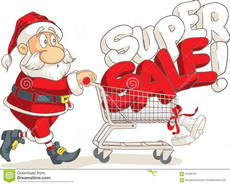 santa claus super sale vector cartoon vector illustratie