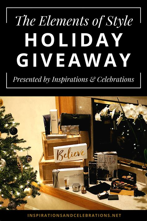 Style Giveaway - the elements of style holiday giveaway celebrating the season of magic wonder