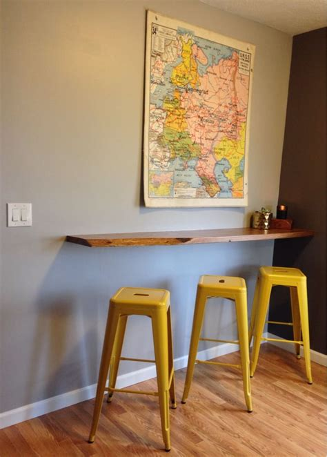 Wall Bar Table by 25 Best Ideas About Wall Mounted Table On