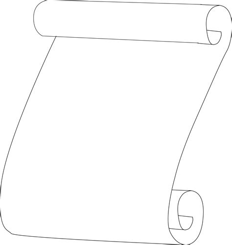 scroll outline template clipart scroll outline
