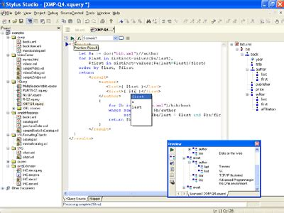xquery tutorial online xquery editor