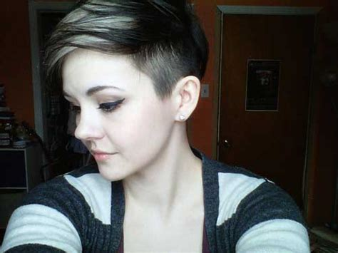 part shaved hairstyles for women short shaved hairstyles for women