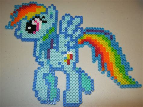my pony perler my pony rainbow dash perler bead by ritalabella on