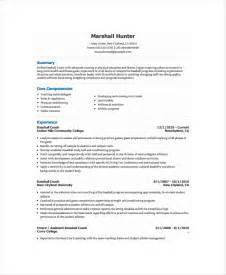 football coach resume sle coaching resume sle