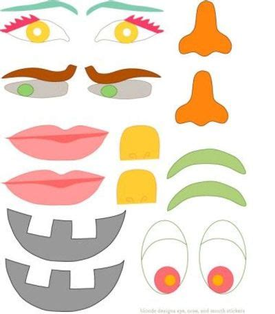 printable pumpkin eyes and mouth eyes nose mouth printables blonde design blog