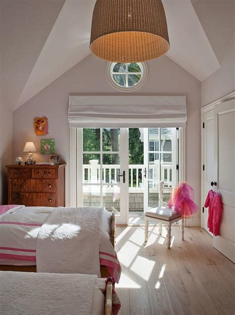 girls bedroom l shades french doors roman shade eclectic girl s room