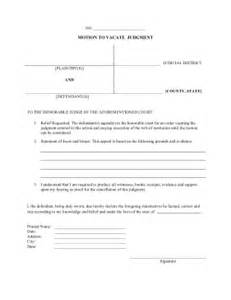 free motion 4 templates printable motion to vacate judgment pleading template