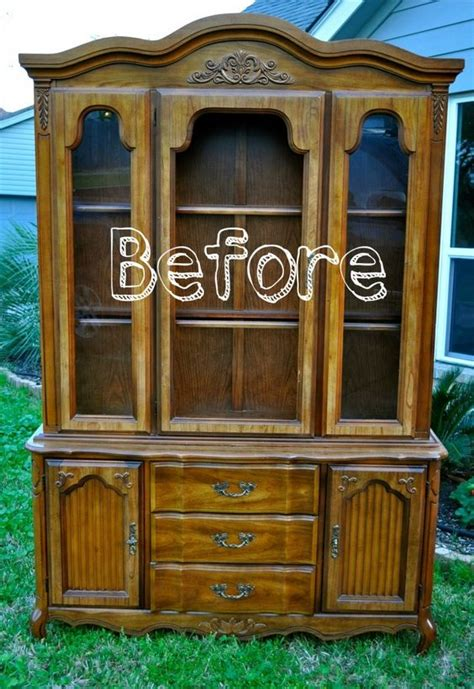 pattern hutch refurbished china cabinet diy ideas pinterest in