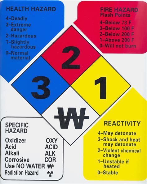 hmis label white section chemistry m hatten sds hazard diamond project