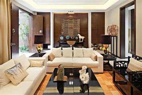living room entrance designs 现代中式别墅客厅玄关装修效果图 土巴兔装修效果图