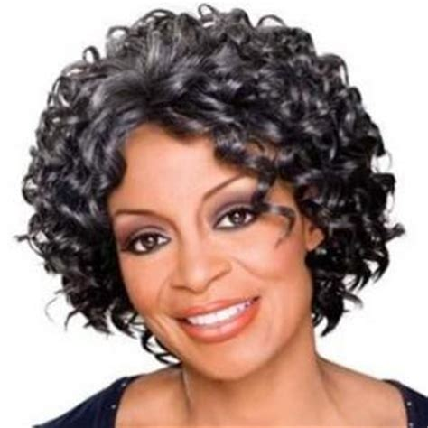 gray hair pieces for american dainty short curly gray african american lace wigs for