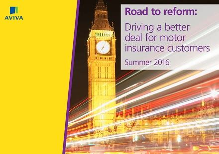aviva publishes 'road to reform: driving a better deal for