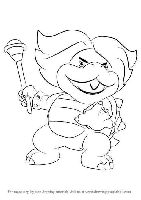 mario koopalings coloring pages learn how to draw ludwig von koopa from koopalings