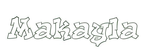 coloring pages of the name kayla free coloring pages of kayla in graffiti
