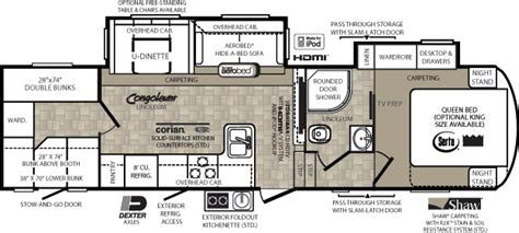 wildcat 5th wheel floor plans fifth wheels by forest river forest river inc
