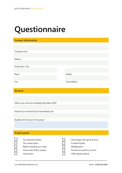 contact center design questionnaire survey questionnaire design download pdf