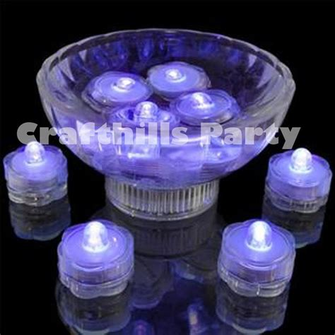 submersible led light centerpieces 24 pcs led purple submersible waterproof wedding floral