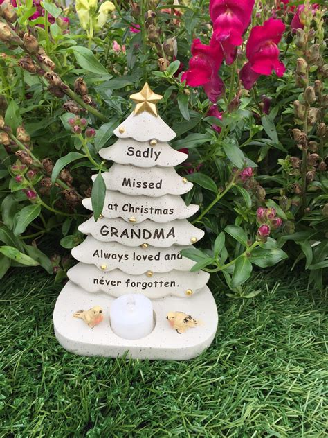 grave side christmas tree tree graveside memorial ornament robin tealight candle 5055361736599 ebay