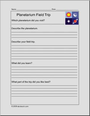 Constellation Report Template Report Form Field Trip Planetarium Elem Abcteach