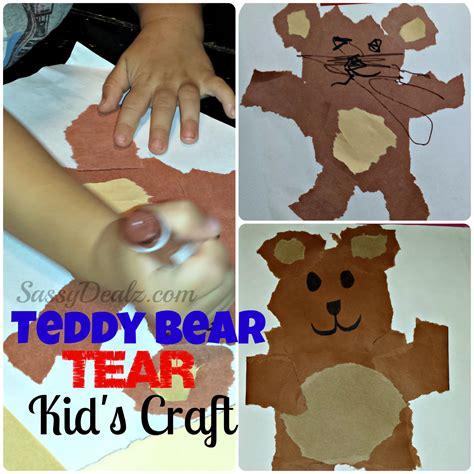 teddy crafts for teddy tear kid s craft cheap easy no scissors