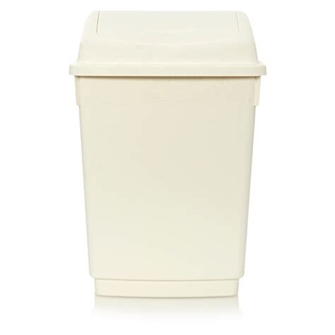 cream swing bin george home 12l cream swing bin bins asda direct