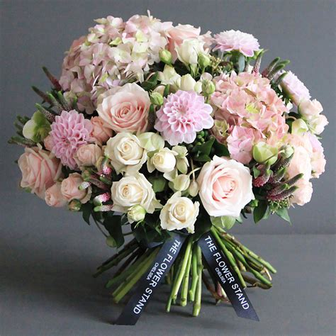 Hydrangea by Soft Pink Autumn Bouquet Luxury Flowers Same Day Delivery