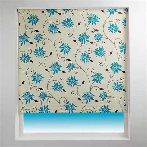 teal patterned roller blind sunlover patterned thermal blackout roller blinds ebay