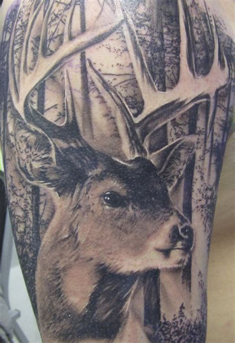 wildlife tattoos for men 55 ultimate deer tattoos for and