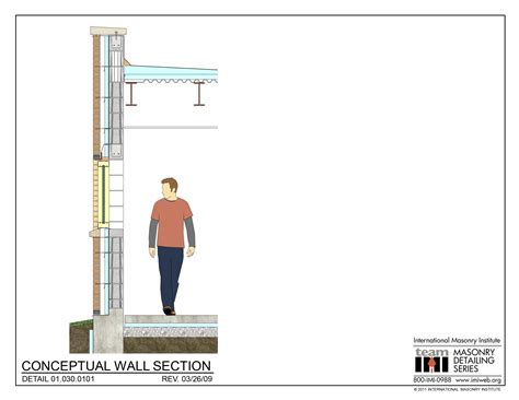 Typical Brick Veneer Wall Section by 01 030 0101 Conceptual Wall Section