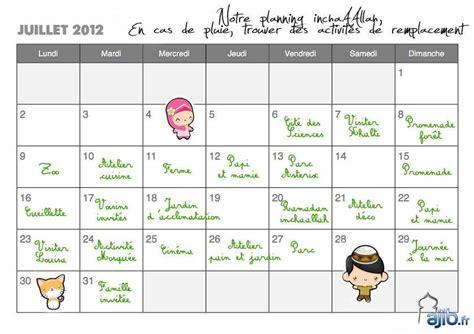 Calendrier Juillet 2012 Les Chroniques D Oumzaza Que Faites Vous Avec Vos