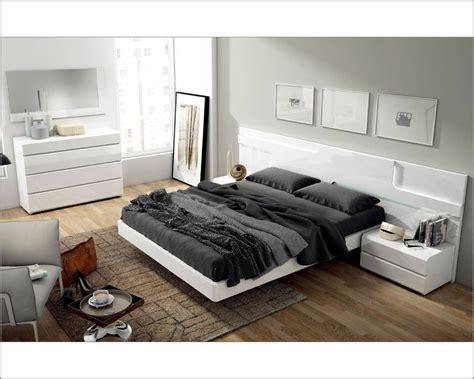 white contemporary bedroom set white modern bedroom set made in spain sara 3313sr